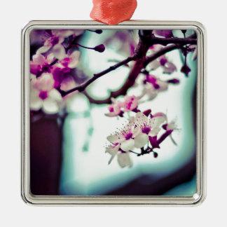 Ornamento De Metal Foto Pastel da flor de cerejeira