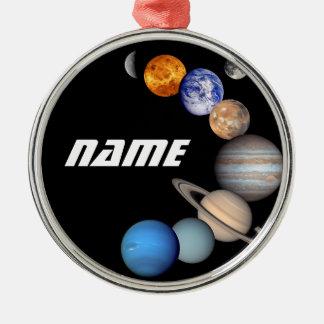 Ornamento De Metal Fotos do montagem JPL do sistema solar -