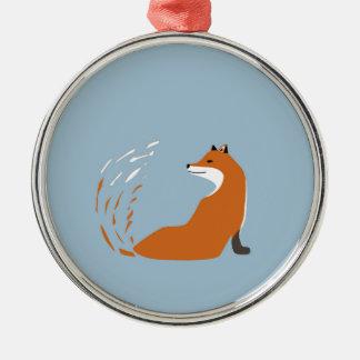Ornamento De Metal Foxy toma a pose