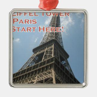 Ornamento De Metal Francês do verão 2016 de Paris France da torre