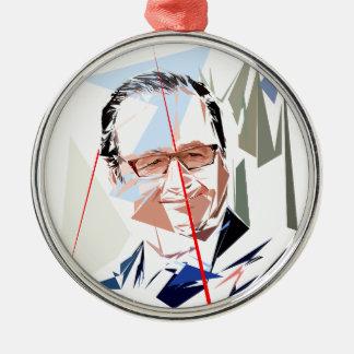 Ornamento De Metal François Hollande