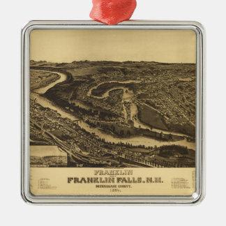 Ornamento De Metal Franklin e quedas de Franklin, New Hampshire