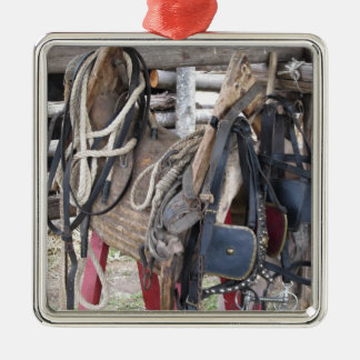Ornamento De Metal Freios e bocados de couro gastos do cavalo