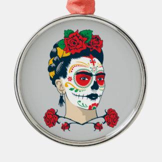 Ornamento De Metal Frida Kahlo | EL Día de los Muertos