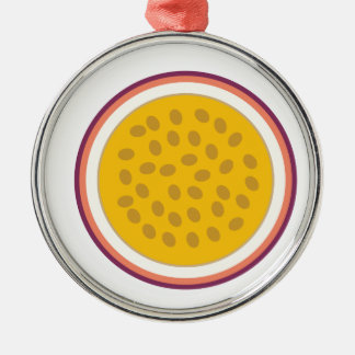 Ornamento De Metal fruta parcialmente amarela