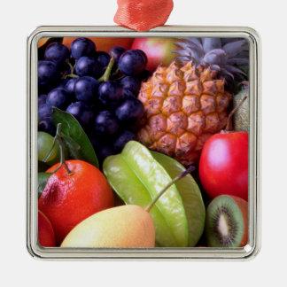 Ornamento De Metal Frutas tropicais