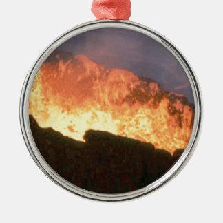 Ornamento De Metal fulgor do fogo vulcânico