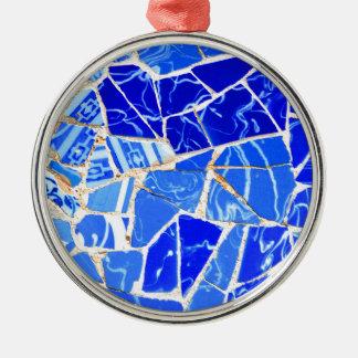 Ornamento De Metal Fundo azul abstrato
