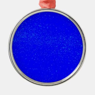 Ornamento De Metal Fundo azul da mancha
