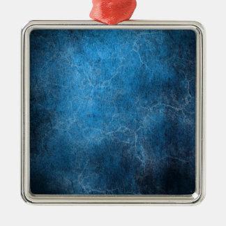 Ornamento De Metal Fundo azul e preto