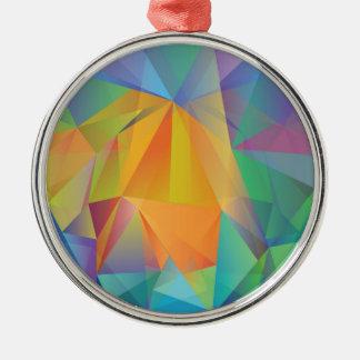 Ornamento De Metal fundo colorido