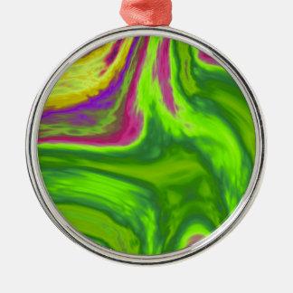 Ornamento De Metal Fundo colorido dos redemoinhos