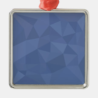 Ornamento De Metal Fundo do polígono do abstrato do azul do