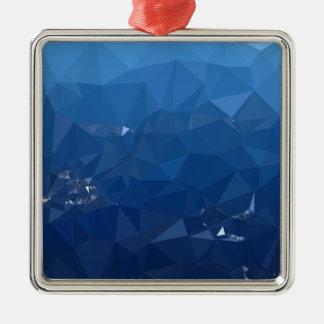 Ornamento De Metal Fundo do polígono do abstrato francês dos azul-céu