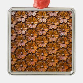 Ornamento De Metal Fundo floral do close up do painel da porta do