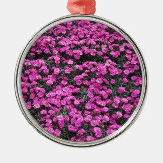 Ornamento De Metal Fundo natural de flores roxas do cravo