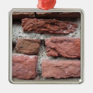 Ornamento De Metal Fundo velho da parede de tijolo