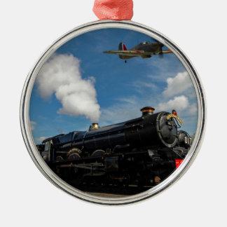 Ornamento De Metal Furacões e trem do vapor