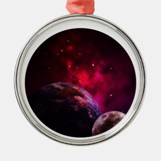 Ornamento De Metal Galaxy Purple 1 - Gláxia roxa