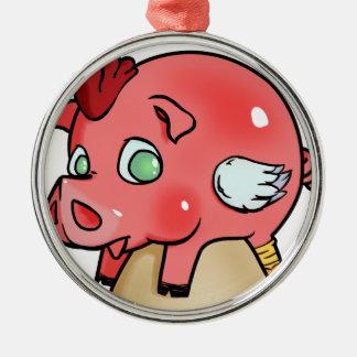 Ornamento De Metal Galinha, porco, Cheeken-Peeg!