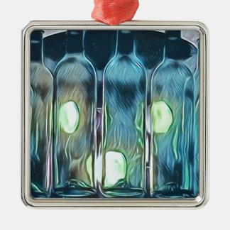 Ornamento De Metal Garrafas de vinho artísticas chiques elegantes