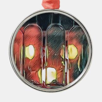 Ornamento De Metal Garrafas de vinho artísticas da canela cor-de-rosa