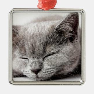 Ornamento De Metal Gatinho sonolento