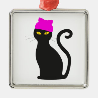 Ornamento De Metal Gato do chapéu do bichano