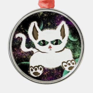 Ornamento De Metal Gato do espaço do vôo