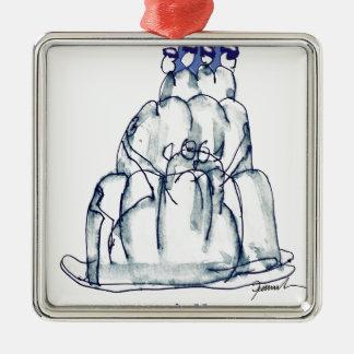 Ornamento De Metal gato do jello da ameixa seca dos fernandes tony