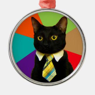 Ornamento De Metal gato do negócio - gato preto