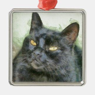 Ornamento De Metal Gato preto