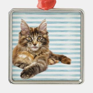 Ornamento De Metal Gato, racum de Maine