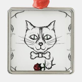 Ornamento De Metal Gato sofisticado