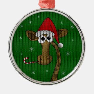 Ornamento De Metal Girafa do Natal
