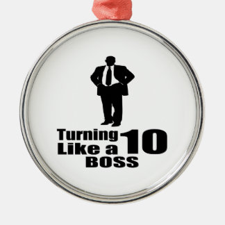 Ornamento De Metal Girando 10 como um chefe