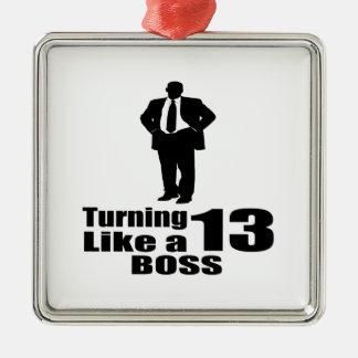 Ornamento De Metal Girando 13 como um chefe