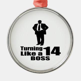 Ornamento De Metal Girando 14 como um chefe