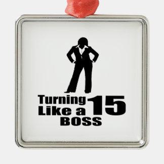 Ornamento De Metal Girando 15 como um chefe