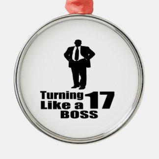Ornamento De Metal Girando 17 como um chefe