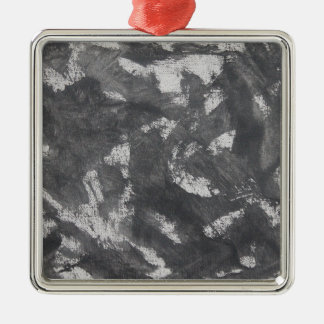 Ornamento De Metal Giz e de tinta preta brancos