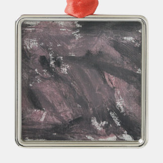 Ornamento De Metal Giz e de tinta preta vermelhos