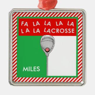 Ornamento De Metal Goalie do Lacrosse Collectible