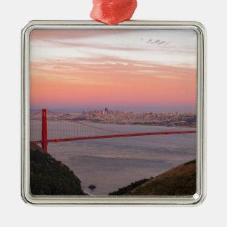 Ornamento De Metal Golden gate bridge San Francisco no nascer do sol