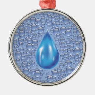 Ornamento De Metal gota da água
