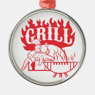 Ornamento De Metal Grade do jacaré do carregar do cozinheiro chefe do