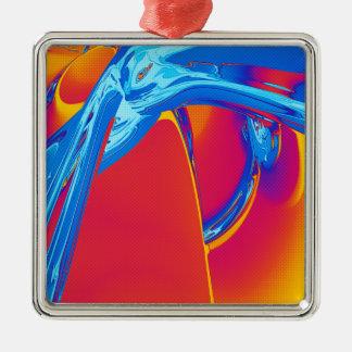 Ornamento De Metal Gráfico abstrato do pop art