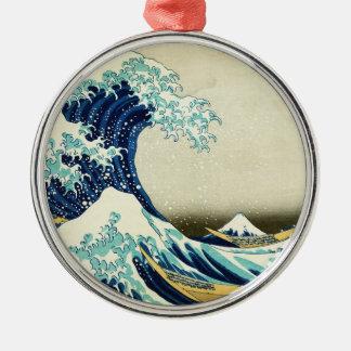 Ornamento De Metal Grande onda fora de Kanagawa