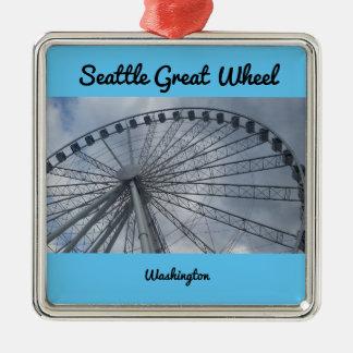 Ornamento De Metal Grande roda Puget Sound Washington de Seattle