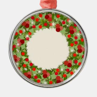Ornamento De Metal Grinalda do Natal